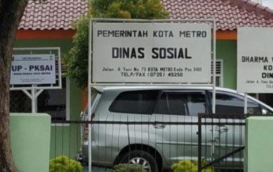 Dinas Sosial Metro Salurkan Bantuan Masyarakat Terdampak Covid-19