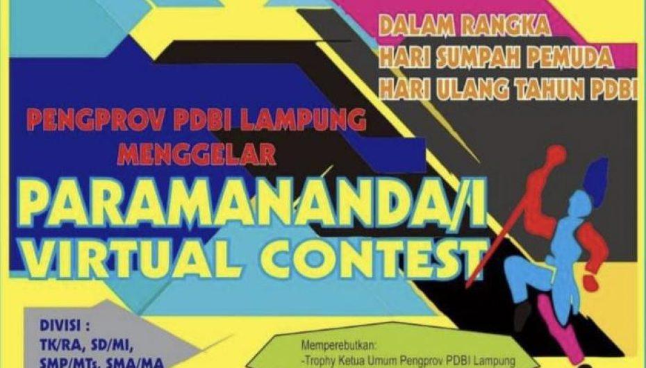 Pengprov PDBI Lampung Gelar Paramananda/i Virtual Contest