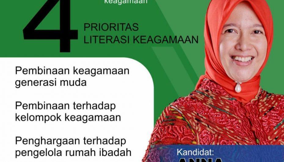 Kampanye Daring, Anna Morinda akan Bahas 4 Literasi Keagamaan