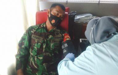 Personel Kodim 0411/LT ikut Donor Darah