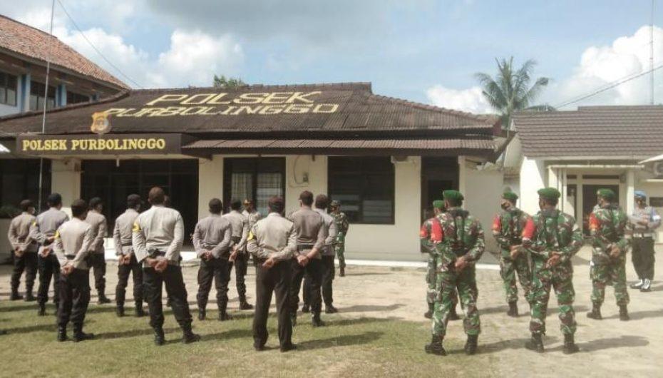 Kampanye Paslon di Purbolinggo, TNI-Polri saling Sinergi terapkan Prokes