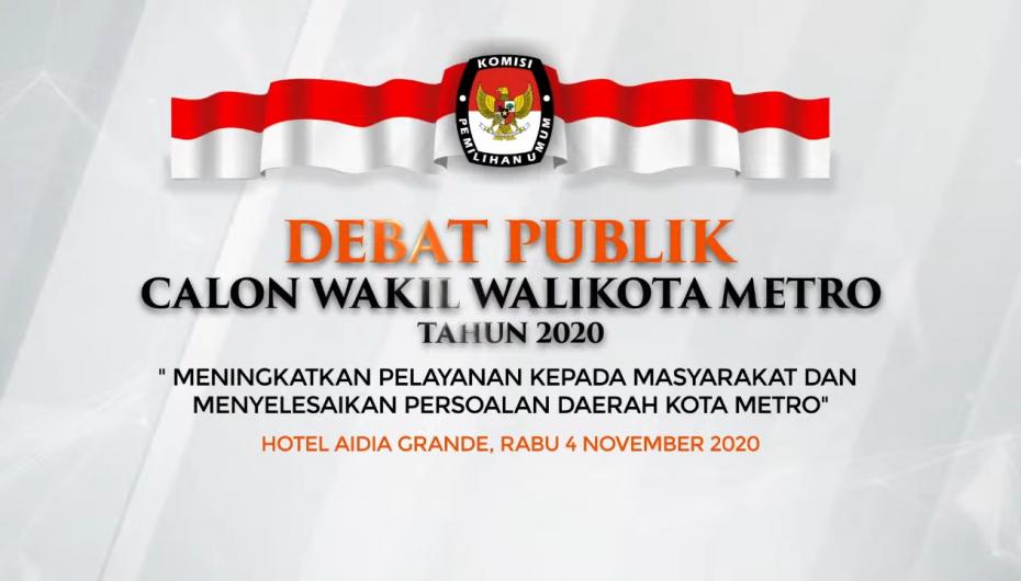 Lagi, Masyarakat Keritik Debat Kedua KPU Metro