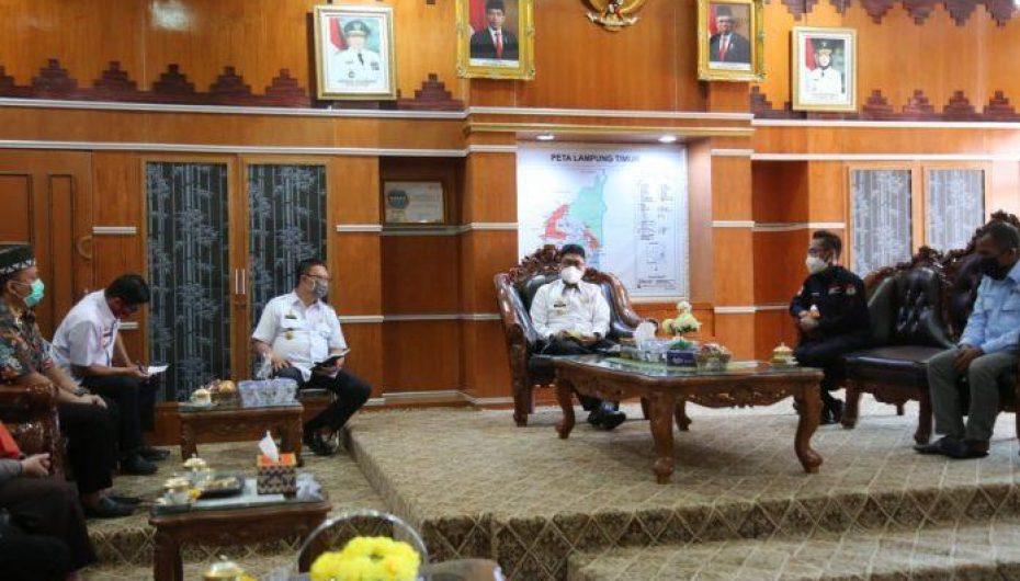 PjsBupati Lampung Timur Fredy Menerima Audiensi Dengan KPU