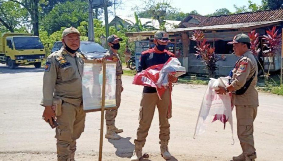 Jelang Pencoblosan, Pol PP Kota Metro Tertibkan Seluruh APK