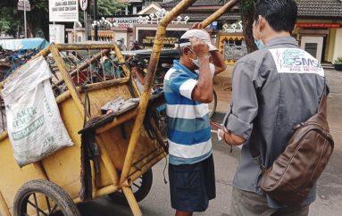 SMSI Kota Metro Aktif Bagikan Masker