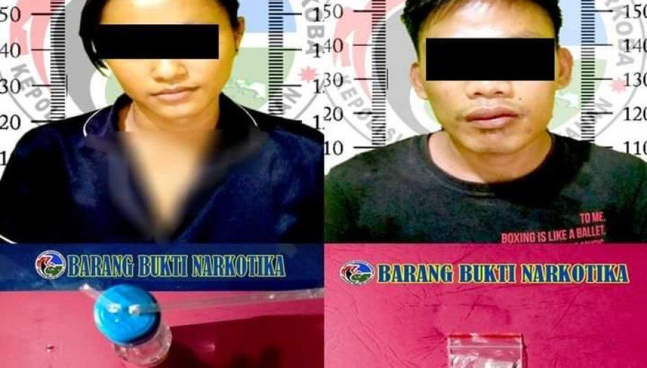 Dua Pelaku Diduga Pengedar Sabu Diamankan Satresnarkoba Polres Way Kanan