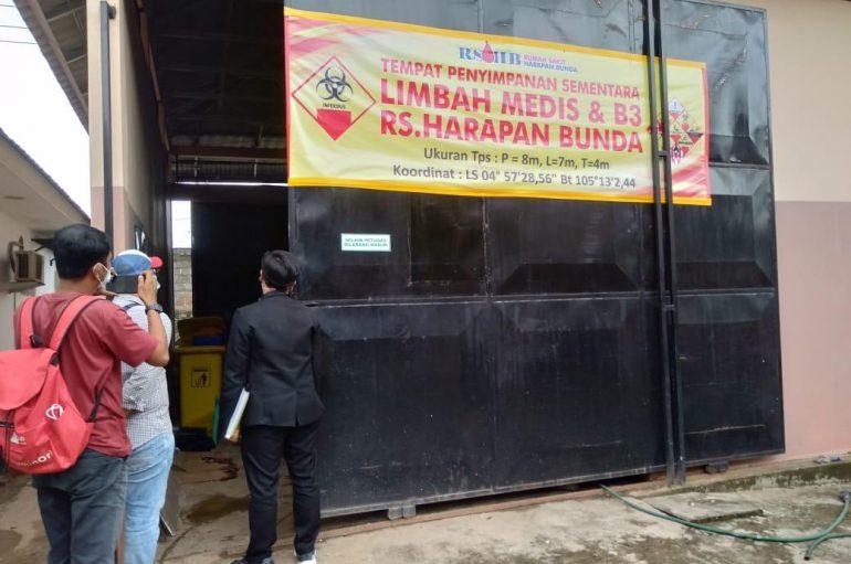 Komisi lll DPRD Lamteng Sidak Pengolahan Limbah RS. Harapan Bunda