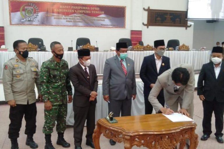 DPRD Tetapkan Musa – Dito Pemenang Pilkada Lampung Tengah Tahun 2020