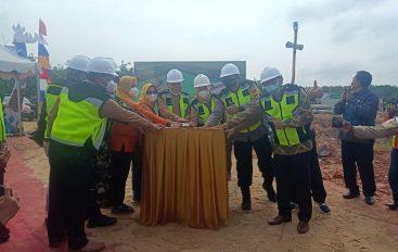 Bupati Mesuji Secara Simbolis Lakukan Penanaman Tiang Pancang Pembangunan Masjid Agung dan Wisata Religi