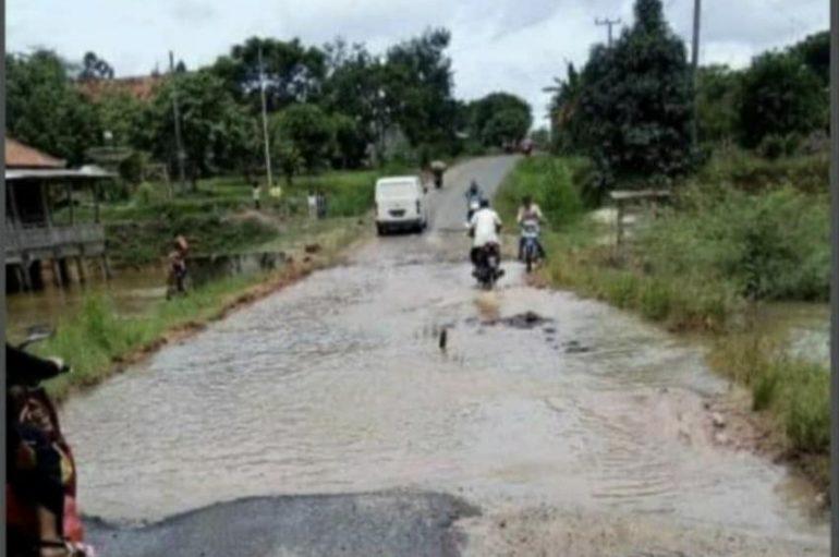 Jembatan Hampir Putus, Warga Bandar Mataram Harapkan Perhatian Pemkab Lamteng