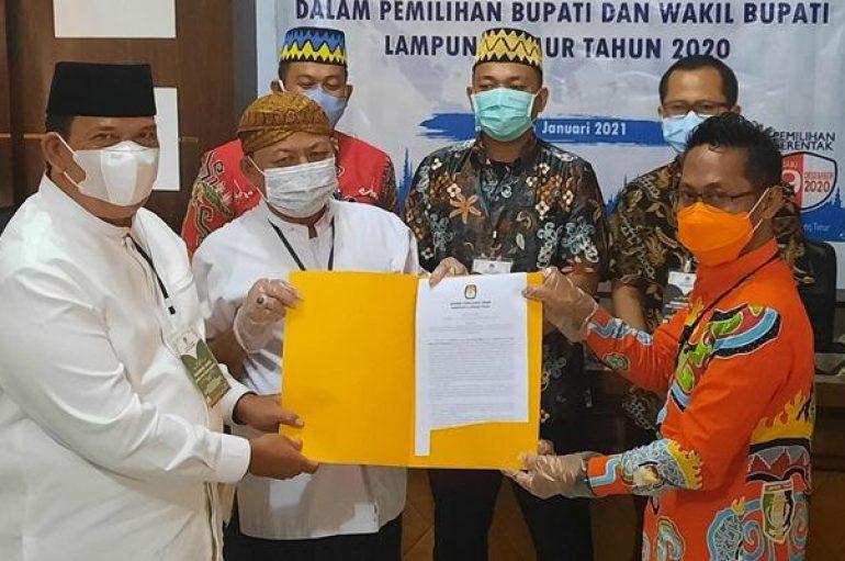Dawam Raharjo dan Azwar Hadi Menerima Suket, Penetapan Sebagai Bupati dan Wakil Bupati terpilih Kabupaten Lamtim
