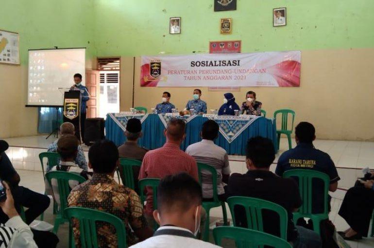 Kelurahan Karangrejo Adakan  Sosialisasi Peraturan Perundang-Undangan Tahun Anggaran 2021