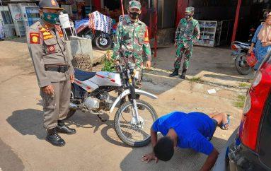 Kodim 0429 Lamtim Beserta Jajaran Lakukan Operasi PPKM di Simpang Sribawono