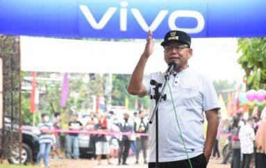 Bupati  Lamtim Dawam Raharjdo, Resmikan Pasar Kreatif  Masyarakat di Pekalongan