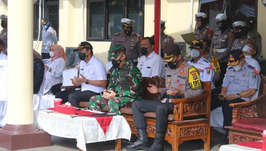 Dandim 0429 Lamtim Hadiri Apel Gelar Pasukan Operasi Ketupat Krakatau 2021 di Mapolres Lamtim