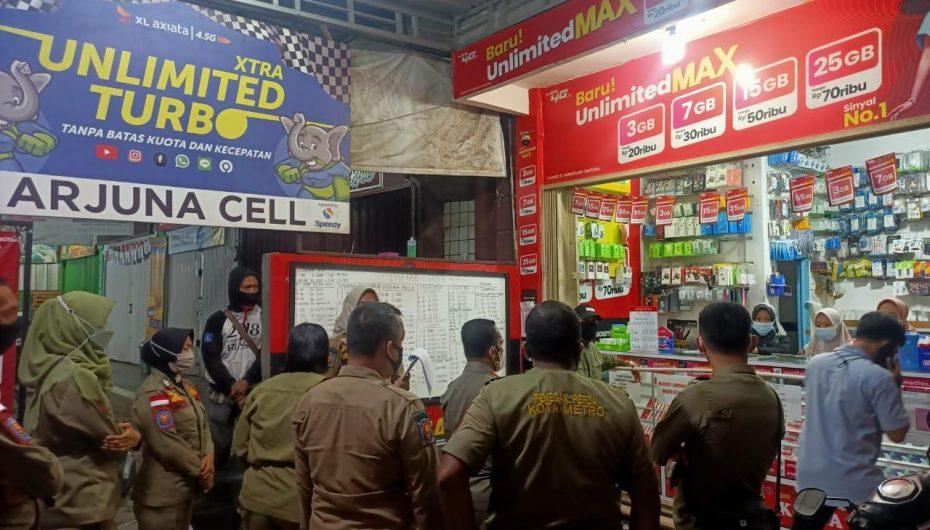 Satgas Covid-19 Sanksi Sejumlah Pelanggar PPKM Di Metro