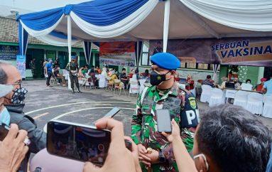 Denpom Lampung Gelar Vaksinasi Pertama Bagi Masyarakat Balam
