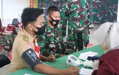 Peringati HUT TNI ke-76, Kodim 0429/Lamtim Gelar Donor Darah